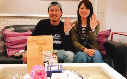 結婚指輪ご成約のお客様 ししゃも様ご夫妻 静岡県島田市