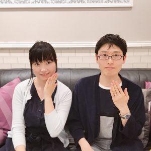 結婚指輪ご成約のお客様 Y.K様ご夫妻 静岡県磐田市