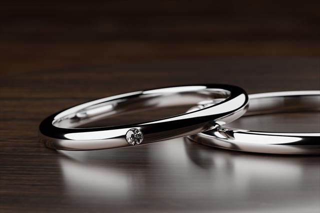 結婚指輪を着用