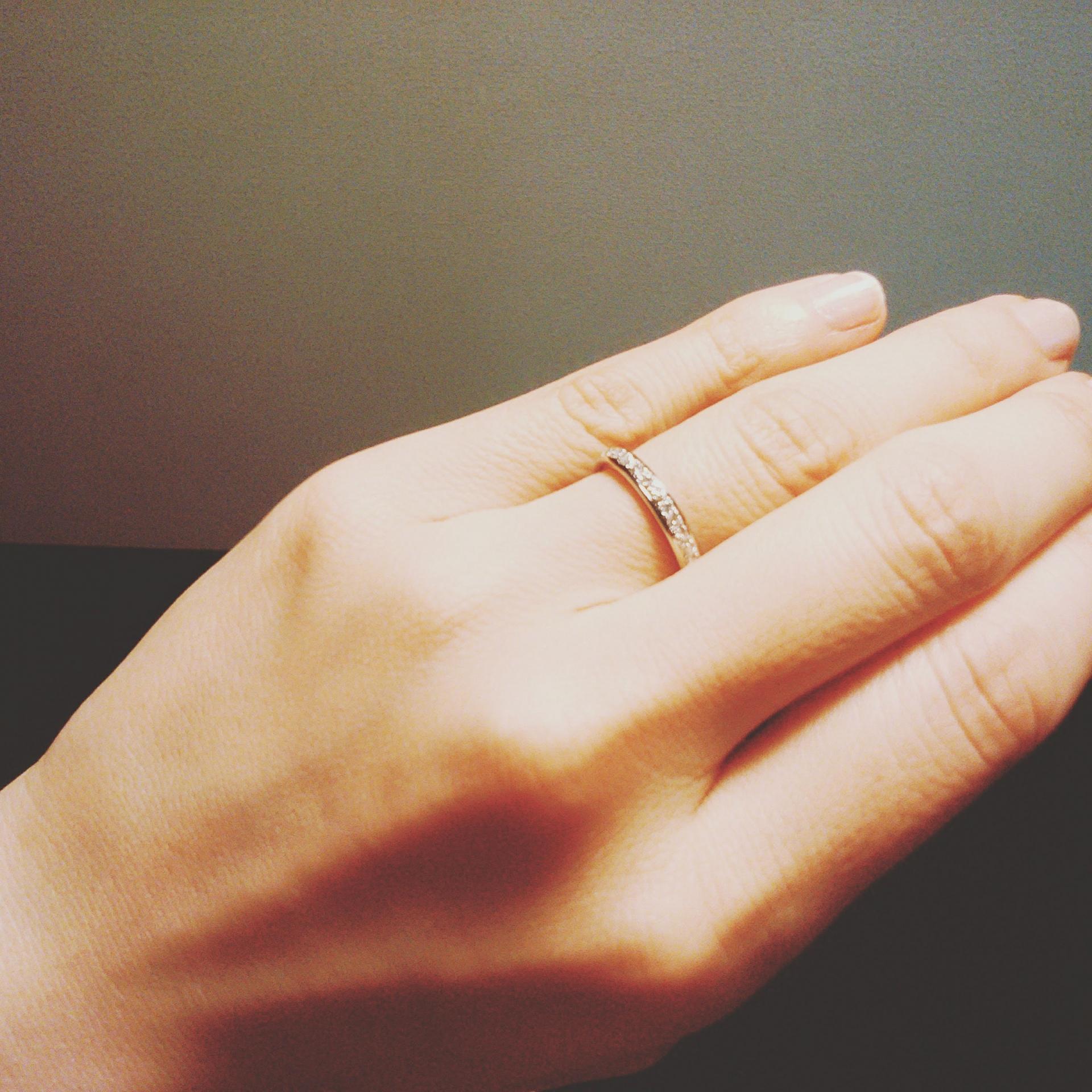 結婚指輪の着け心地