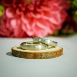 結婚指輪のつや消し加工