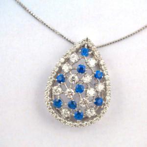 アウイナイトとダイヤモンドのペンダントネックレス