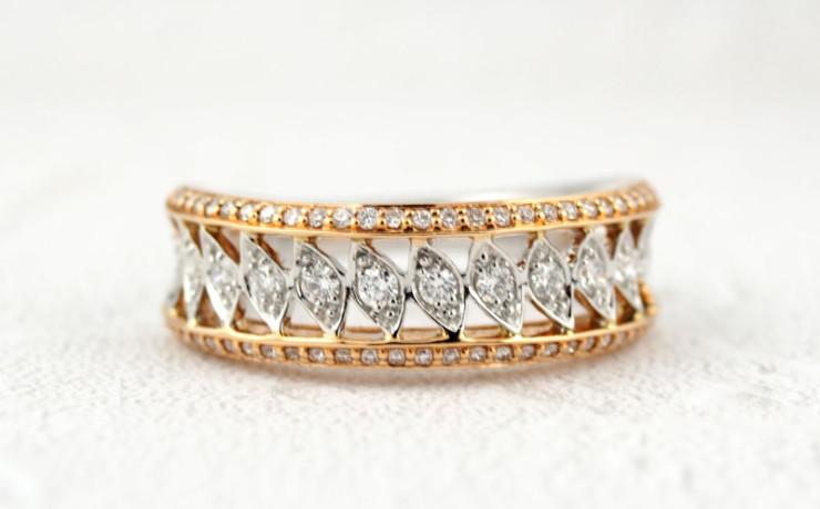 ピンクゴールド ダイヤモンドの指輪