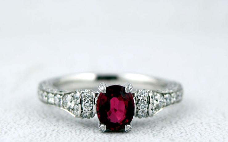 ルビーとダイヤモンドの指輪