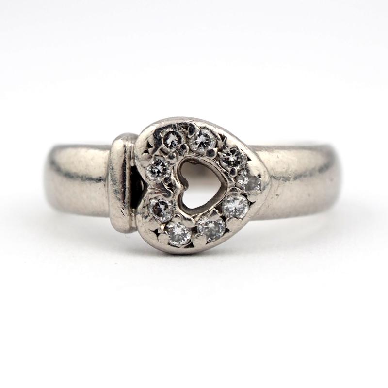 静岡きたがわ宝石のジュエリー修理 ハートの指輪の磨き