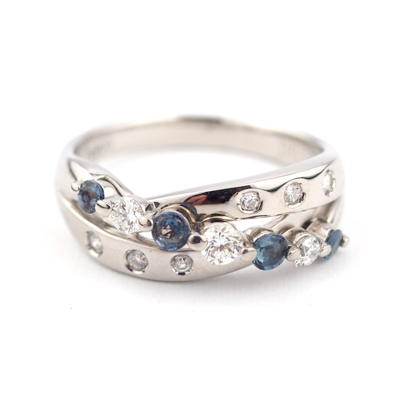 静岡きたがわ宝石のジュエリー修理 アレキサンドライトの指輪の石揺れ修理