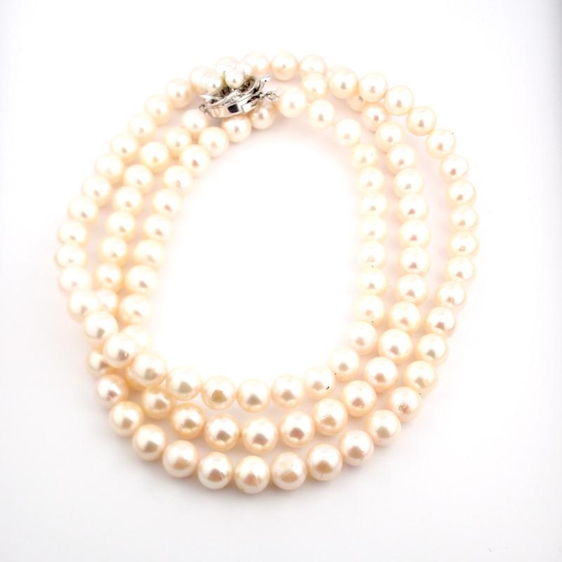 静岡きたがわ宝石のジュエリー修理 真珠のネックレスの糸換え