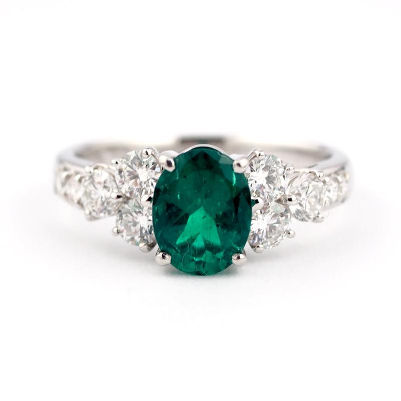 静岡きたがわ宝石のジュエリー修理 エメラルドの指輪のサイズ直し