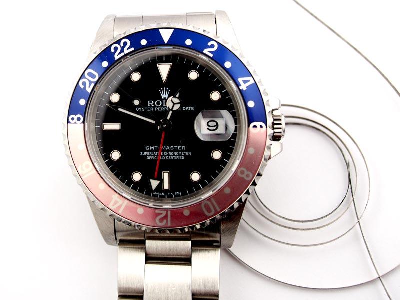 静岡きたがわ宝石の時計修理 ロレックスGMTマスターの分解掃除
