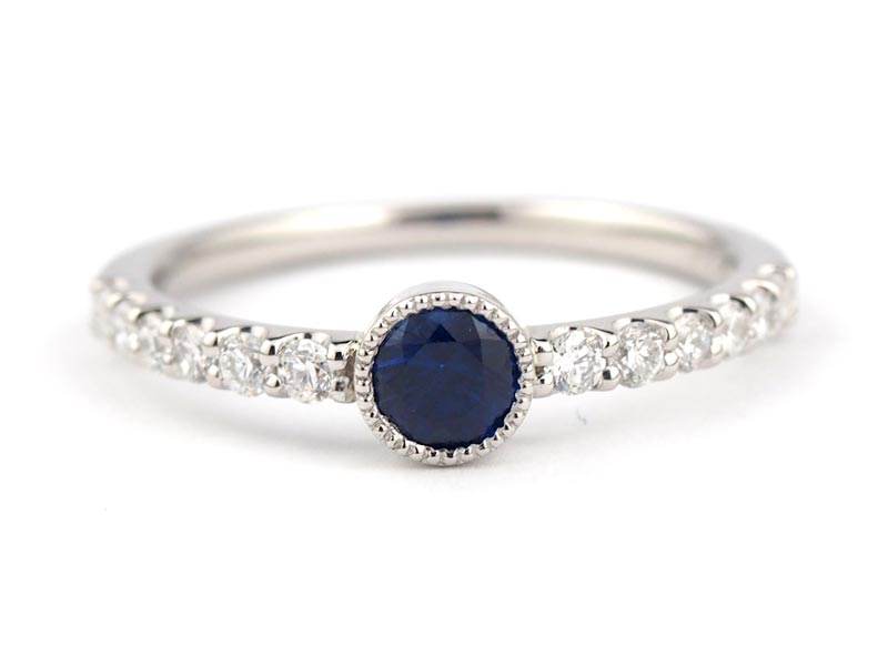 静岡きたがわ宝石のジュエリー修理 サファイアの指輪のサイズ直し
