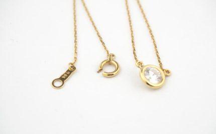 K18ダイヤモンドペンダントネックレスのパーツ交換