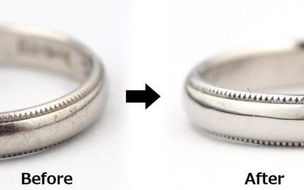 プラチナ結婚指輪の磨き