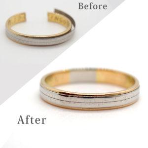 指から抜けなくなった指輪の切断修理