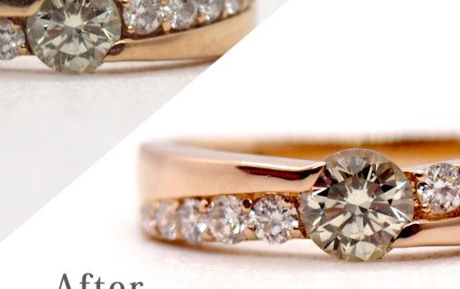 指輪のクリーニング