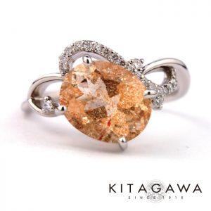 静岡きたがわ宝石のサンストーンの指輪