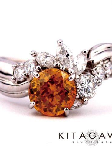 静岡きたがわ宝石のスファレライトの指輪