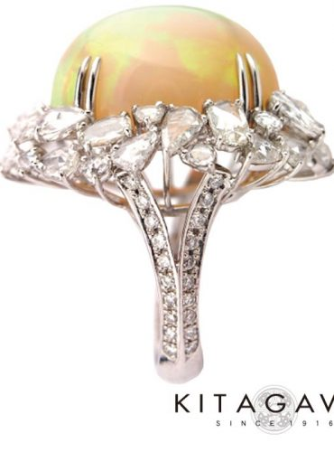 静岡きたがわ宝石のエチオピアオパールの指輪