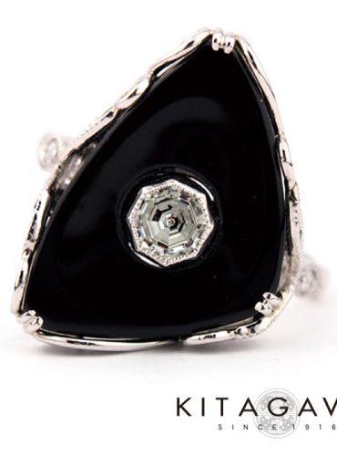 静岡きたがわ宝石のブラックオニキスのペンダント
