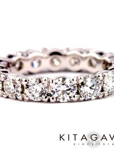 静岡きたがわ宝石のダイヤモンドのエタニティリング