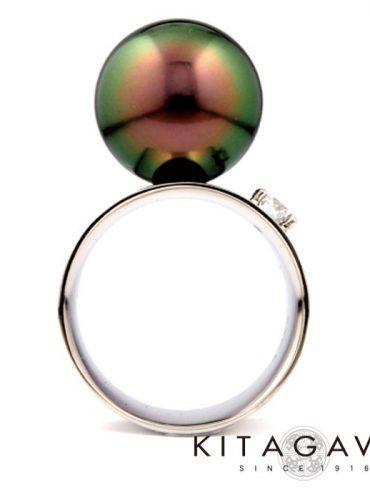 静岡きたがわ宝石の黒真珠の指輪