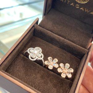 ローズカットダイヤモンドの指輪 静岡きたがわ宝石