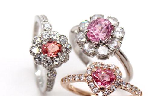 パパラチアサファイアの指輪 静岡きたがわ宝石